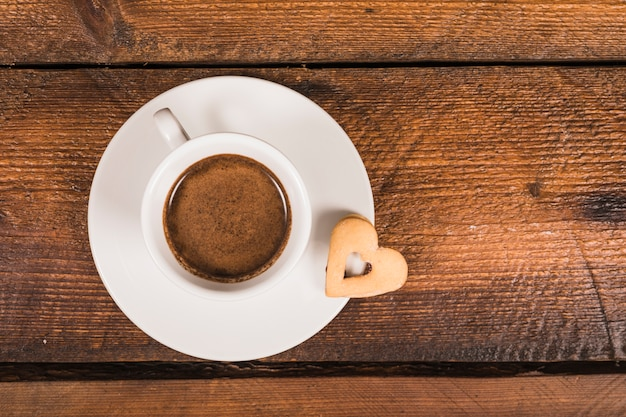Fathers day composition with coffee