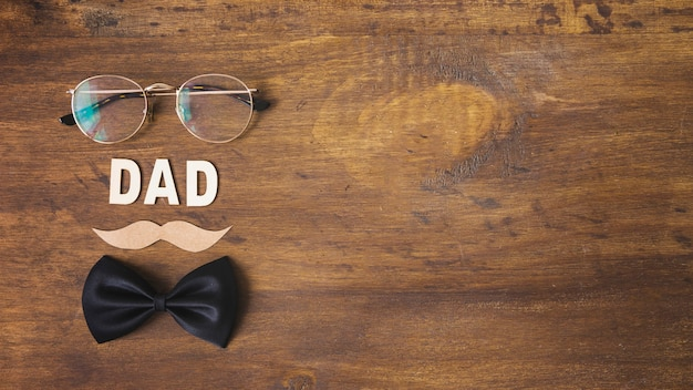 Fathers day composition with copyspace