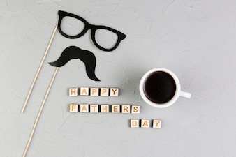 Fathers day composition with hipster concept