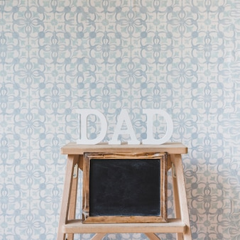 Fathers day composition with slate