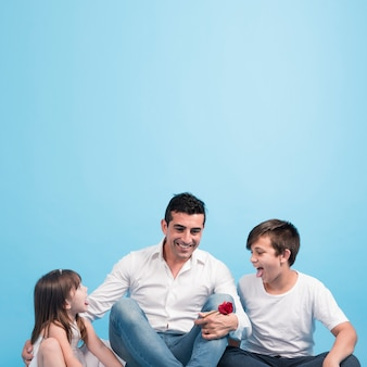 Fathers day concept with happy family