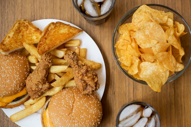 肥満と不健康なファーストフード