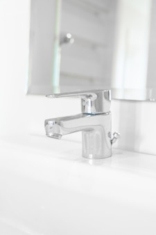 Faucet or tap in bathroom