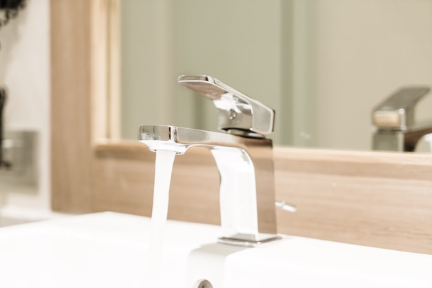 Faucet or tap in restroom and toilet