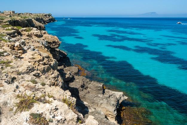 Favignana island.sicily, italy, aegadian