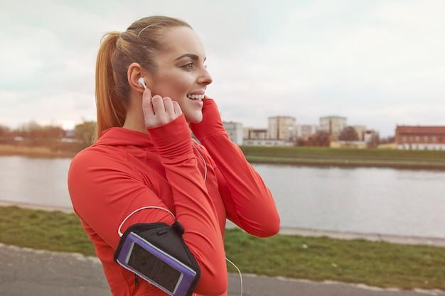 La musica preferita è un modo perfetto per motivarmi a correre