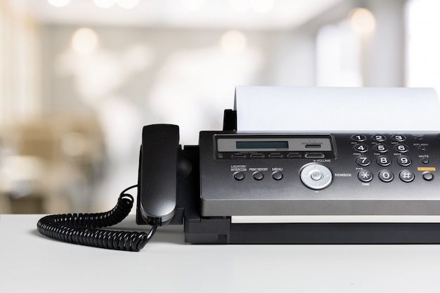 Fax machine in office