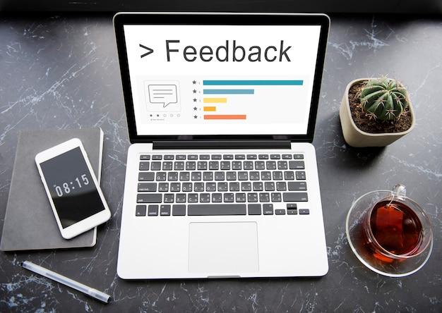 Feedback risposta suggerimenti consigli valutazione