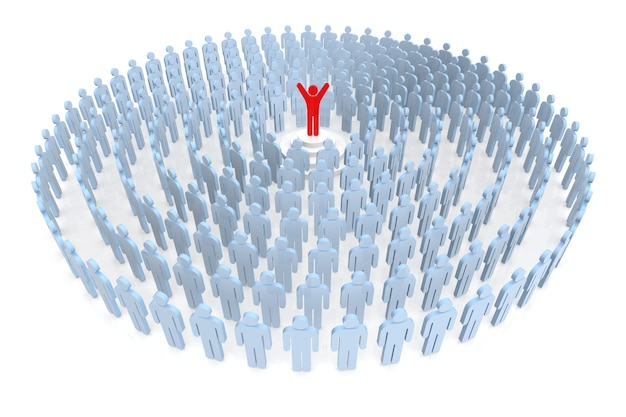 Feel the success. business people and human resources. 3d rendering
