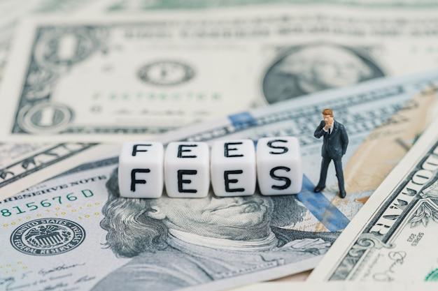 Сборы, стоимость обслуживания или финансовые расходы, уплаченные за бизнес-концепцию