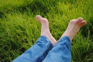 Feet  blue