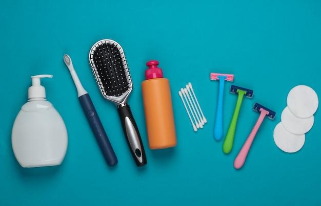 女性の美容製品、青の衛生アクセサリー