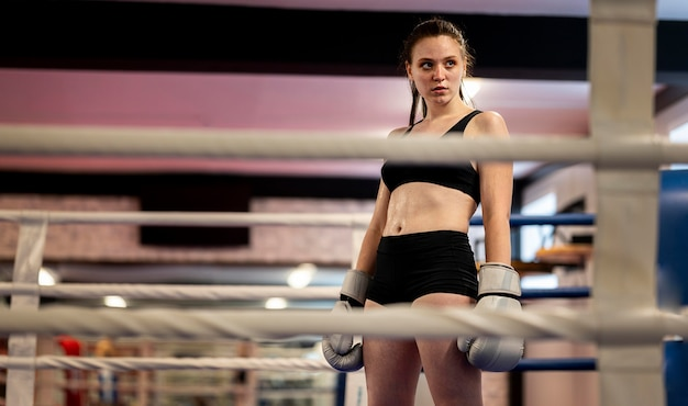 Boxer femmina sul ring