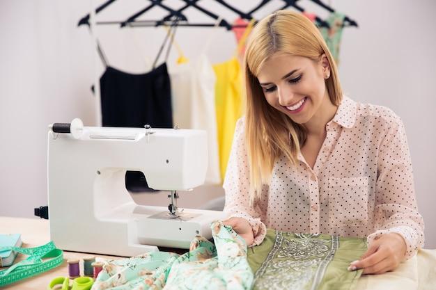 Female designer working in workshop