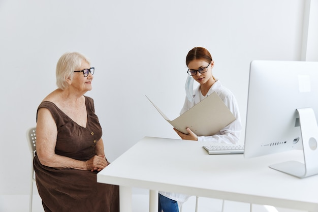 Female doctor patient examination professional treatment