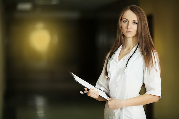 Female doctor smiles
