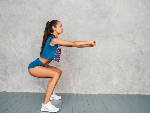 Female doing squats