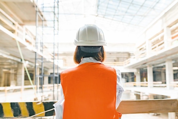 Female engineer on construction site