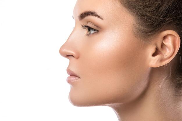 Female face in profile