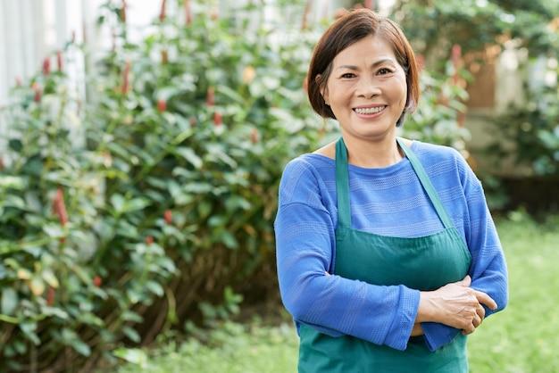 Женщина садовника