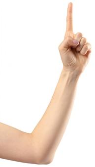Female hand gesture