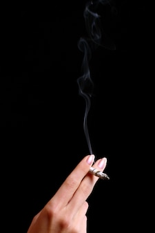 Female hand with cigarette