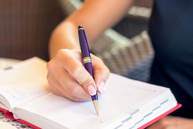 Женский почерк в ноутбук