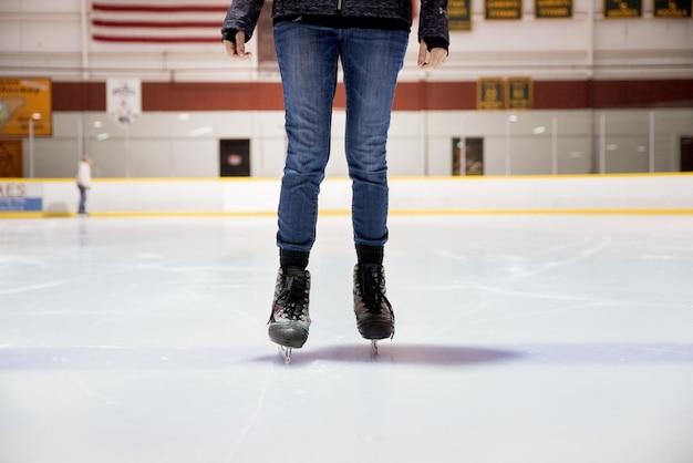 Female ice skating