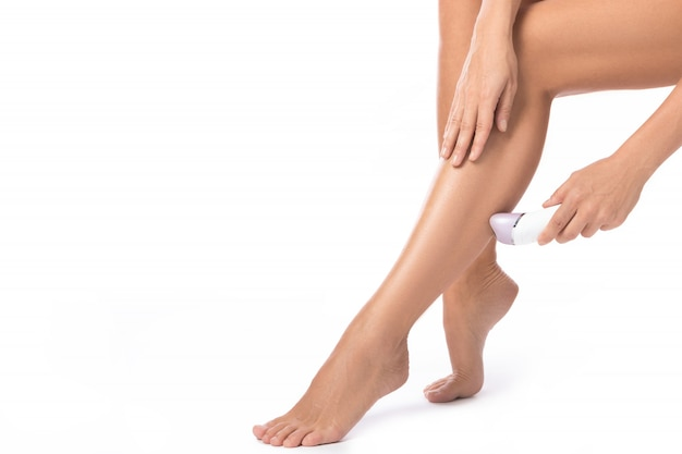Female legs and epilator