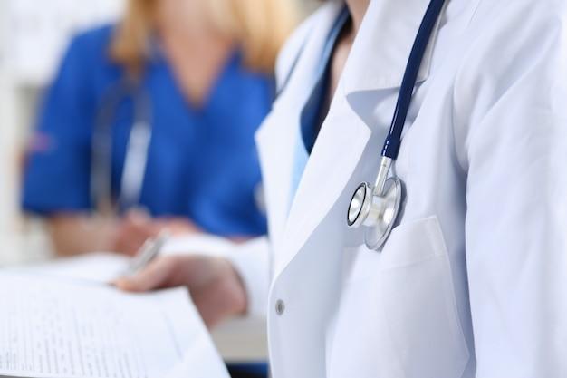Female medicine doctor hand holding