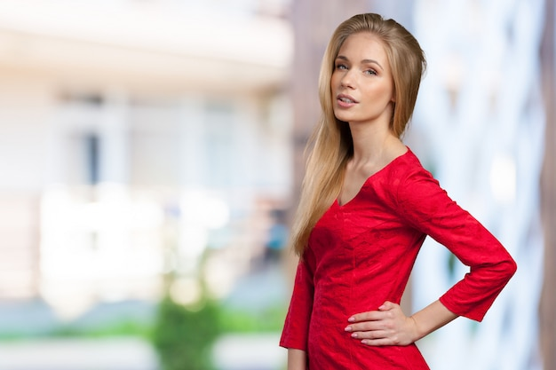 Female model studio posing