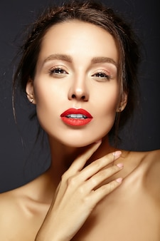 Female model with fresh daily makeup