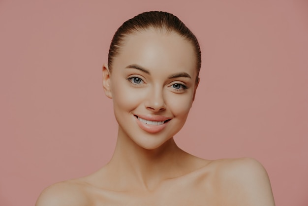 Female model with makeup and clean fresh skin