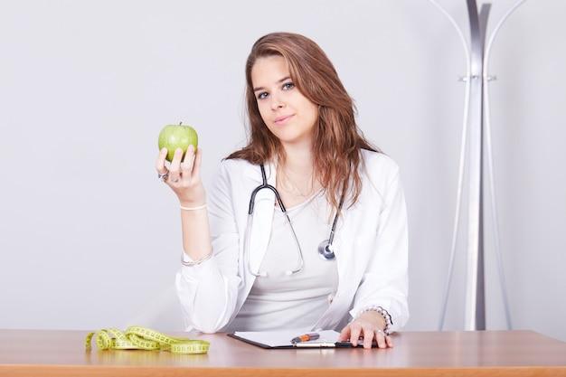 Female nutritionist working