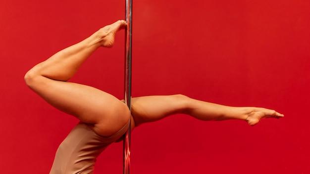 여성 공연 폴 댄스