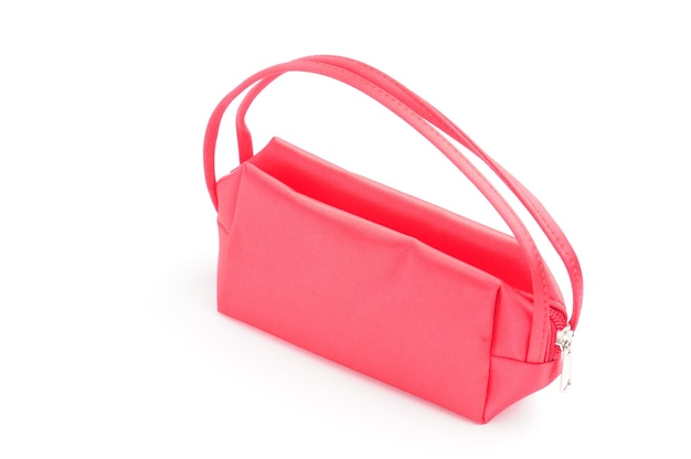 격리 된 흰색 배경에 향수에 대 한 여성 지갑