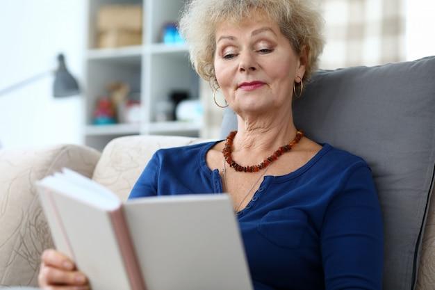 Female reading book