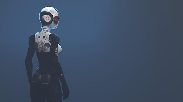 分離された女性ロボットの概念