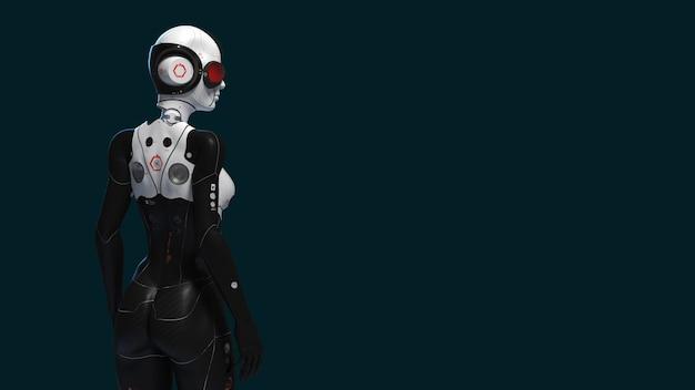 女性ロボットのコンセプトレンダリング