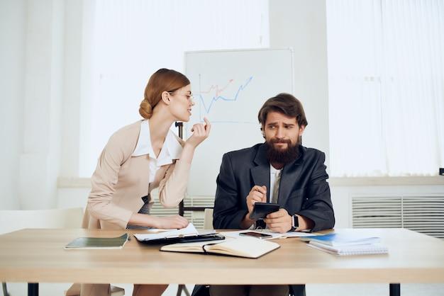 Female secretary harassing boss harassment office work