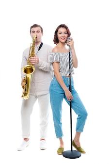 Певица и саксофонистка