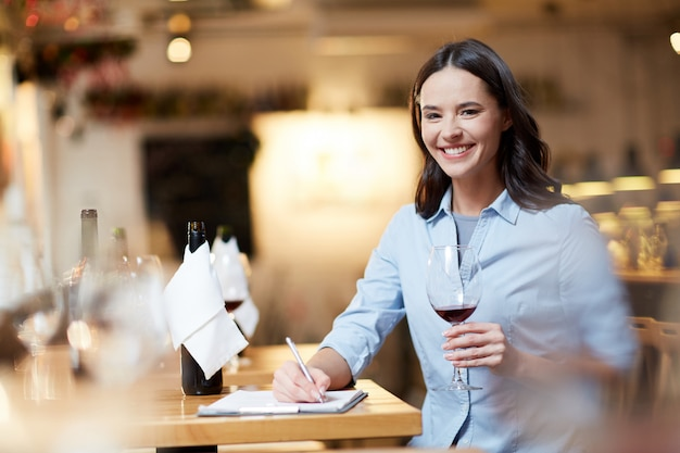 Female sommelier
