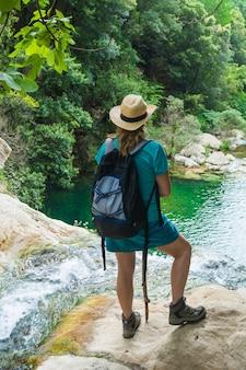 Female sports hiking