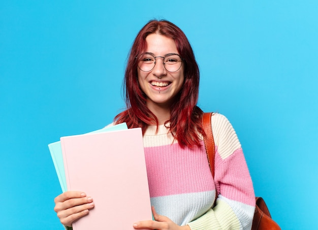 眼鏡をかけた女子学生
