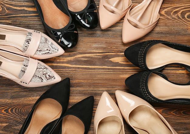 나무, 최고보기에 여성 세련 된 신발