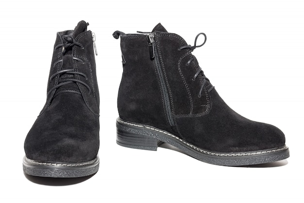Female suede boots