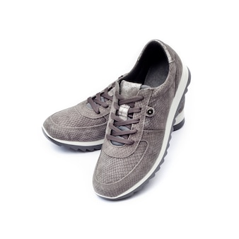 Female suede sneakers isolated