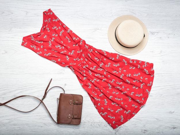 Female summer wardrobe.