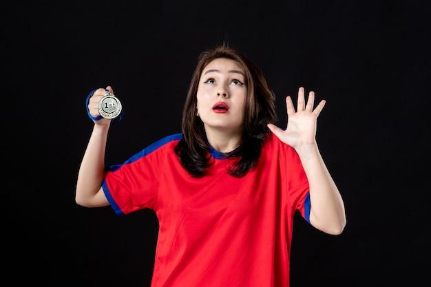 블랙에 st 장소 메달 여자 테니스 선수