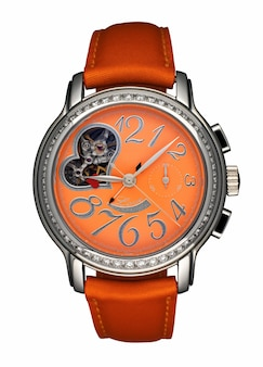 흰색 바탕에 고립 된 여성 시계